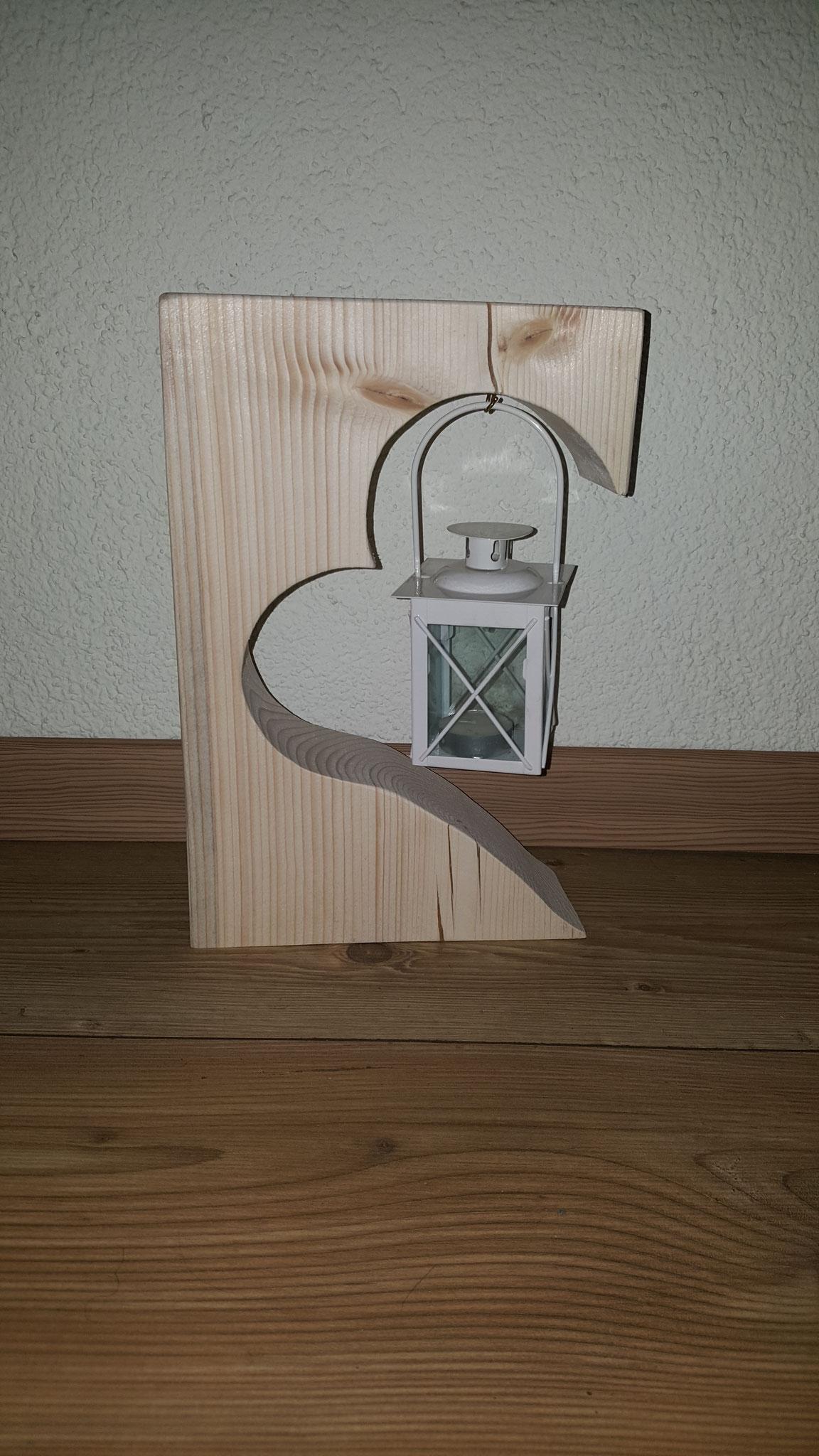 Fensterdeko/Deko mit Telichthalter/Laterne