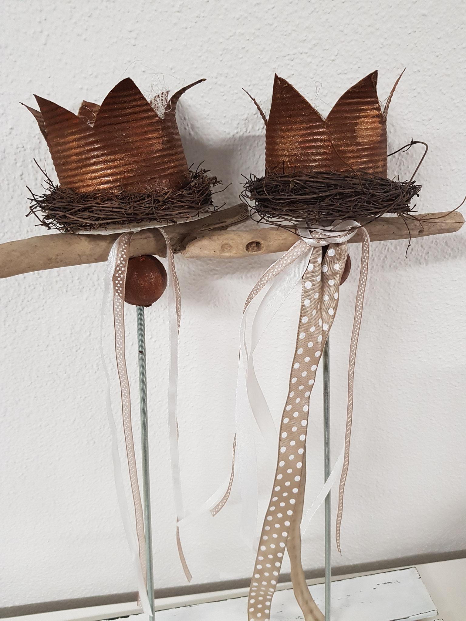 Büchsenkrönchen als Stecker- Workshop