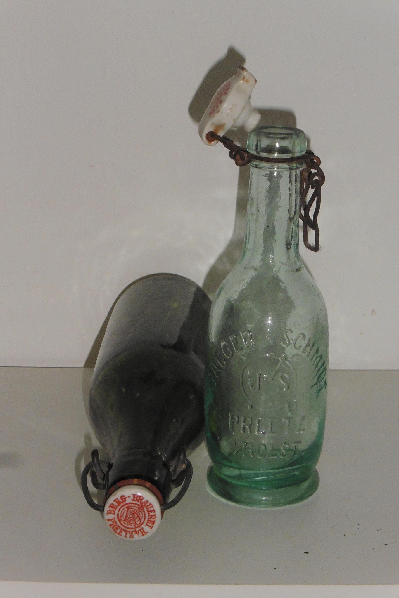 Flaschen der Bergbrauerei in Preetz