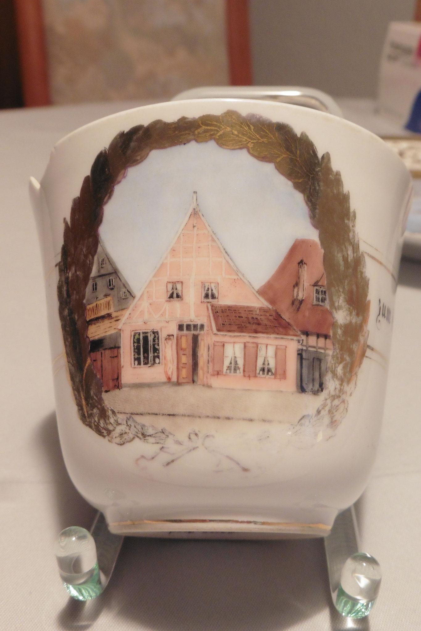 Bemalte Tasse von Porzellanmaler Christian Sass