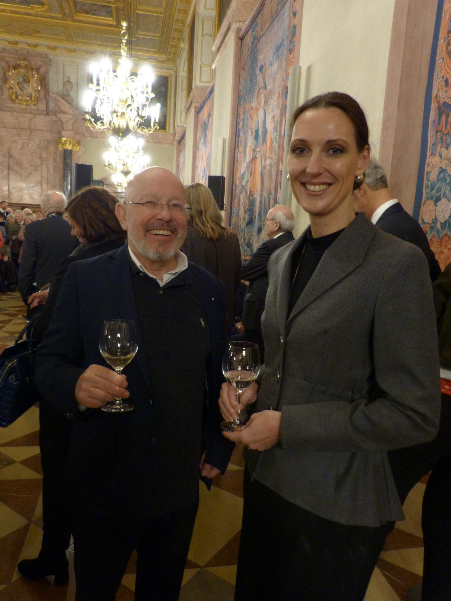 Dr. Dieter Körner mit Frau Valerie Holsboer