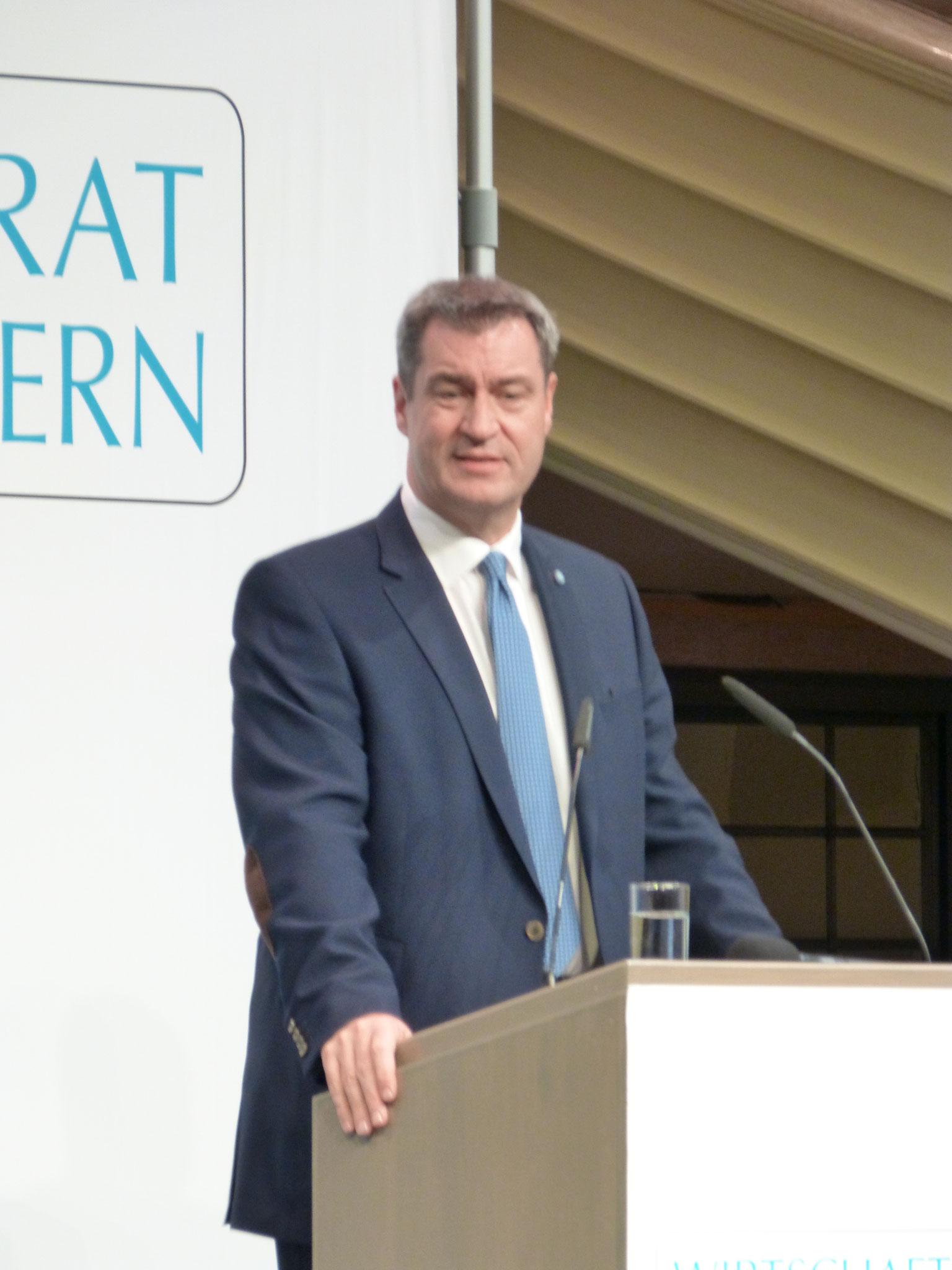 Dr. Markus Söder ehrt den ehemaligen CSU Generalsekretär und Parteikollegen Otto Wiesheu