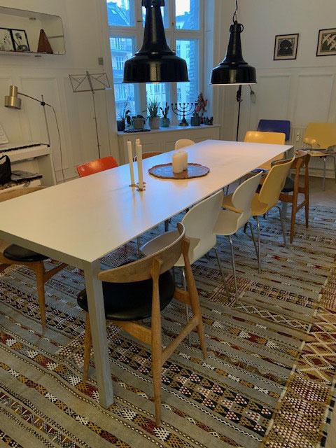 Esszimmer in der Østerbro Wohnung