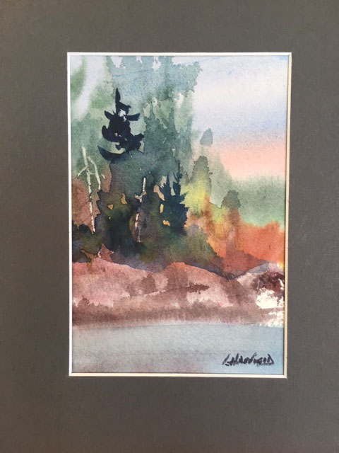Just a Beauty Spot on This Earth 7 x 5 watercolour (matted 10 x 8)