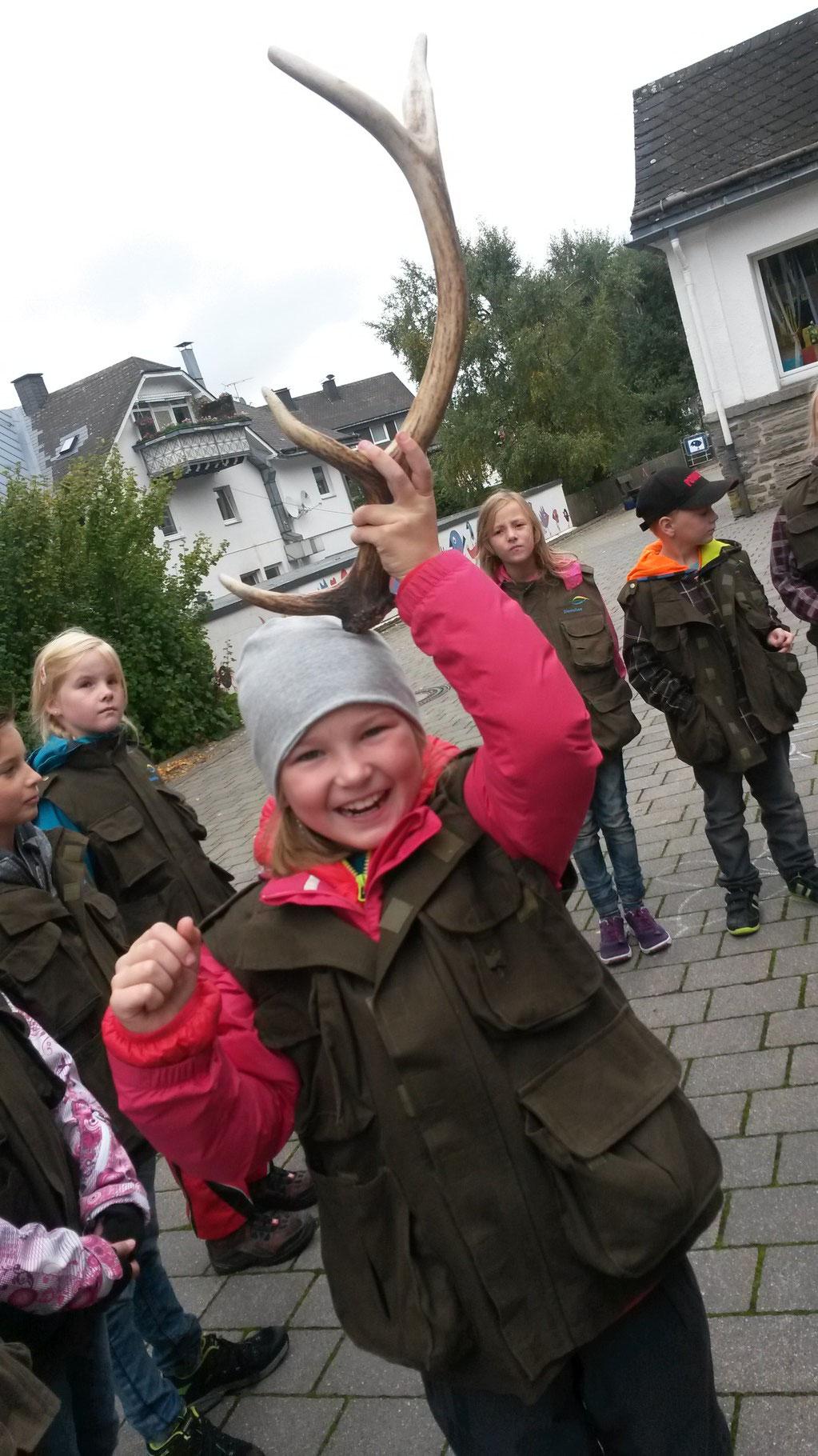 Die Kinder als Hirsch :)