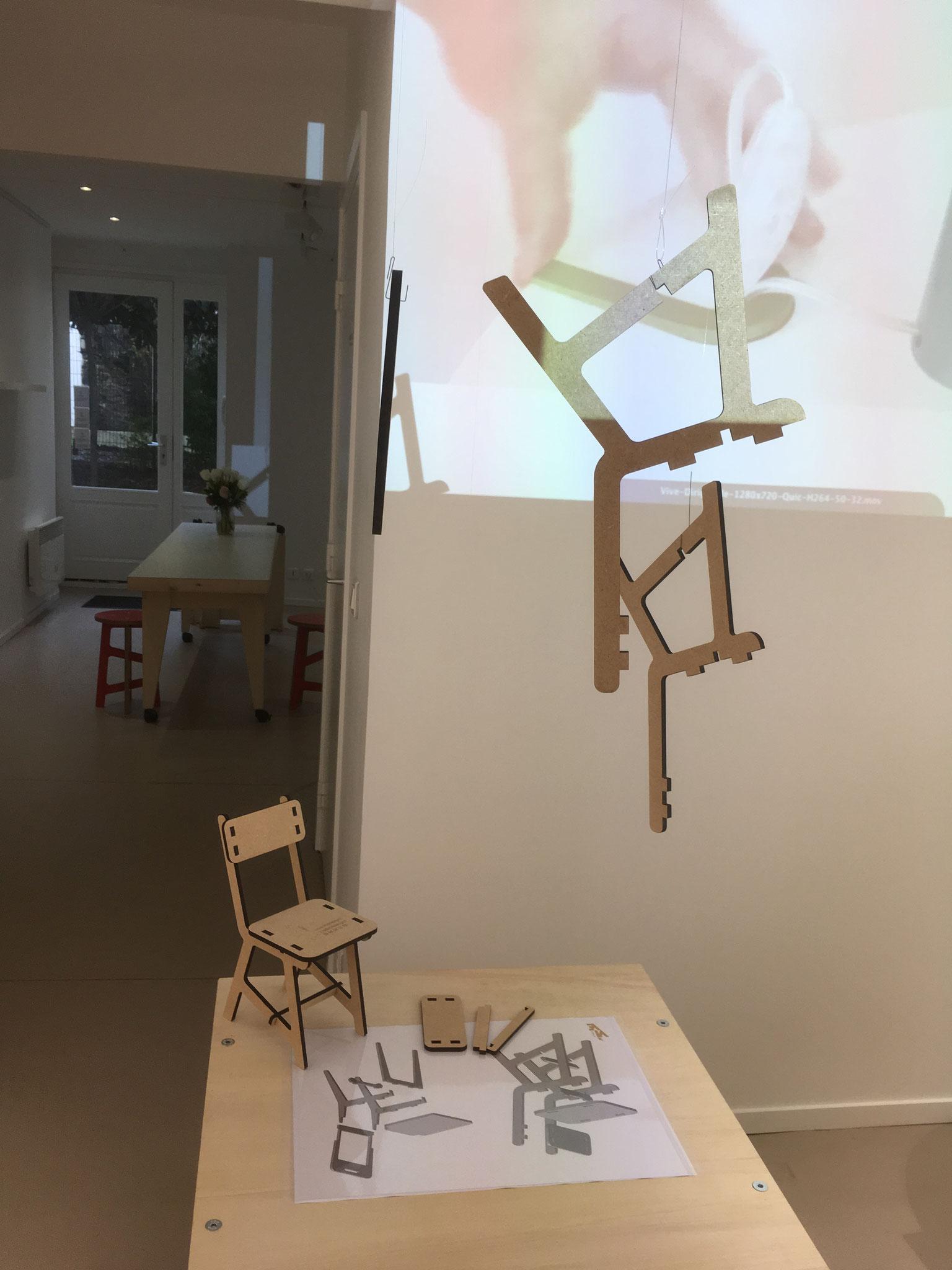 animation montage-démontage, chaise échelle réduite