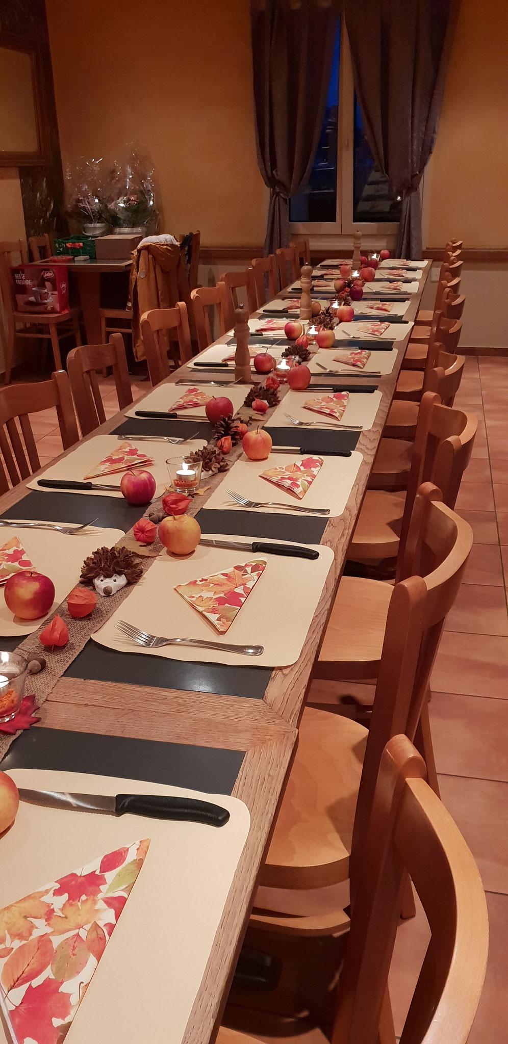 Wunderschöne Tischdekoration..