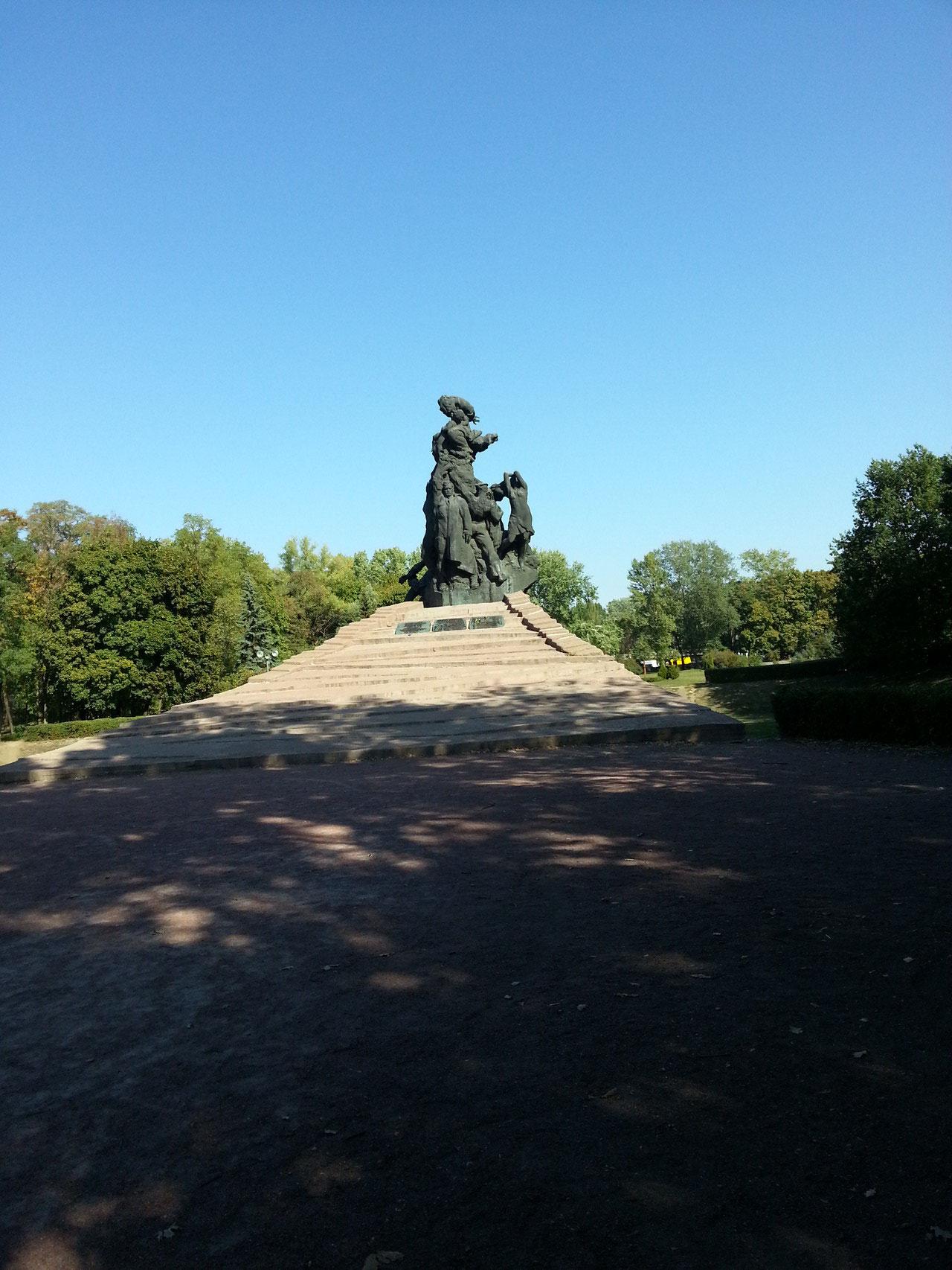 Das sowjetische Monument.