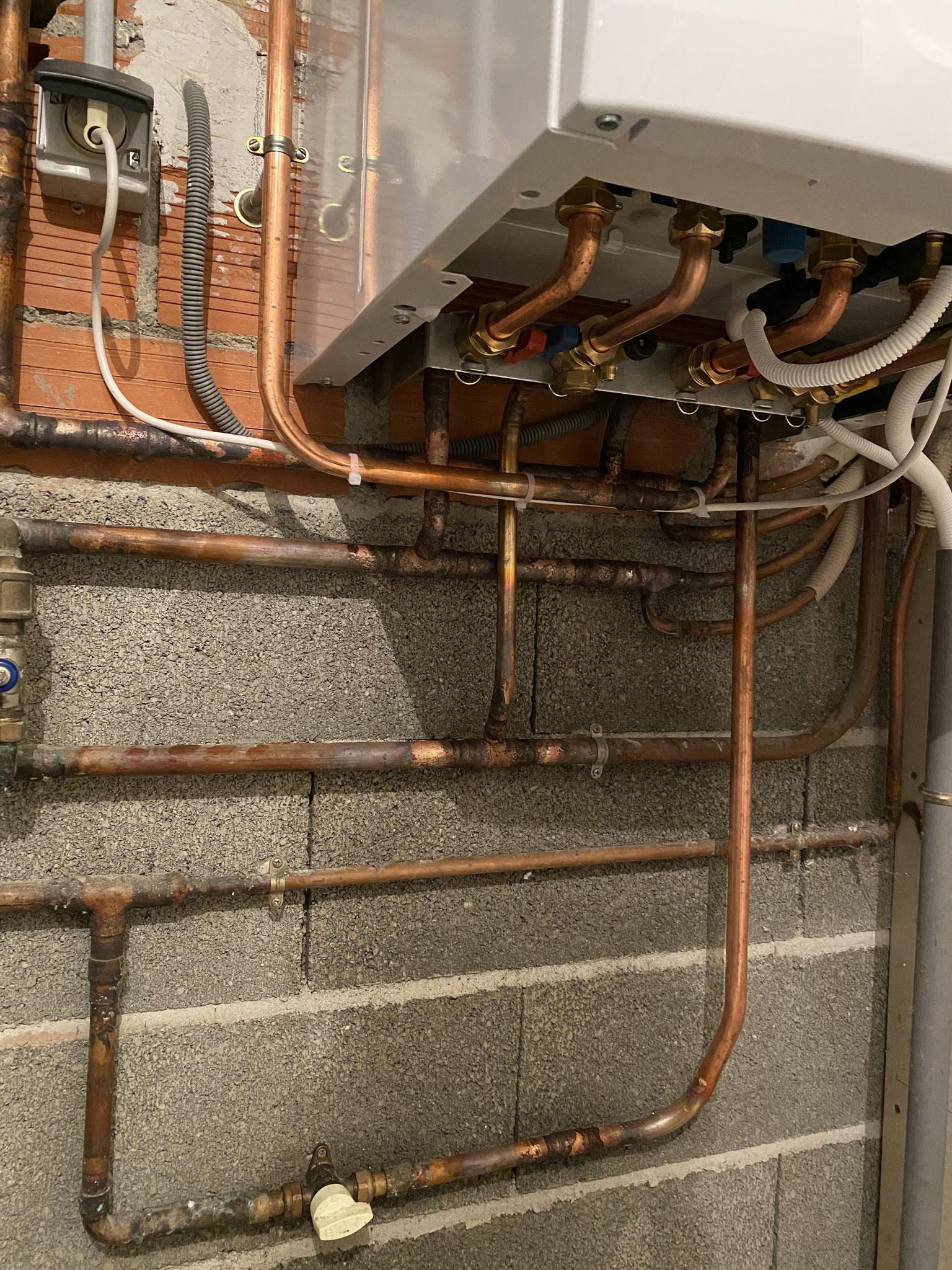 Installation d'une chaudière à condensation Venerque