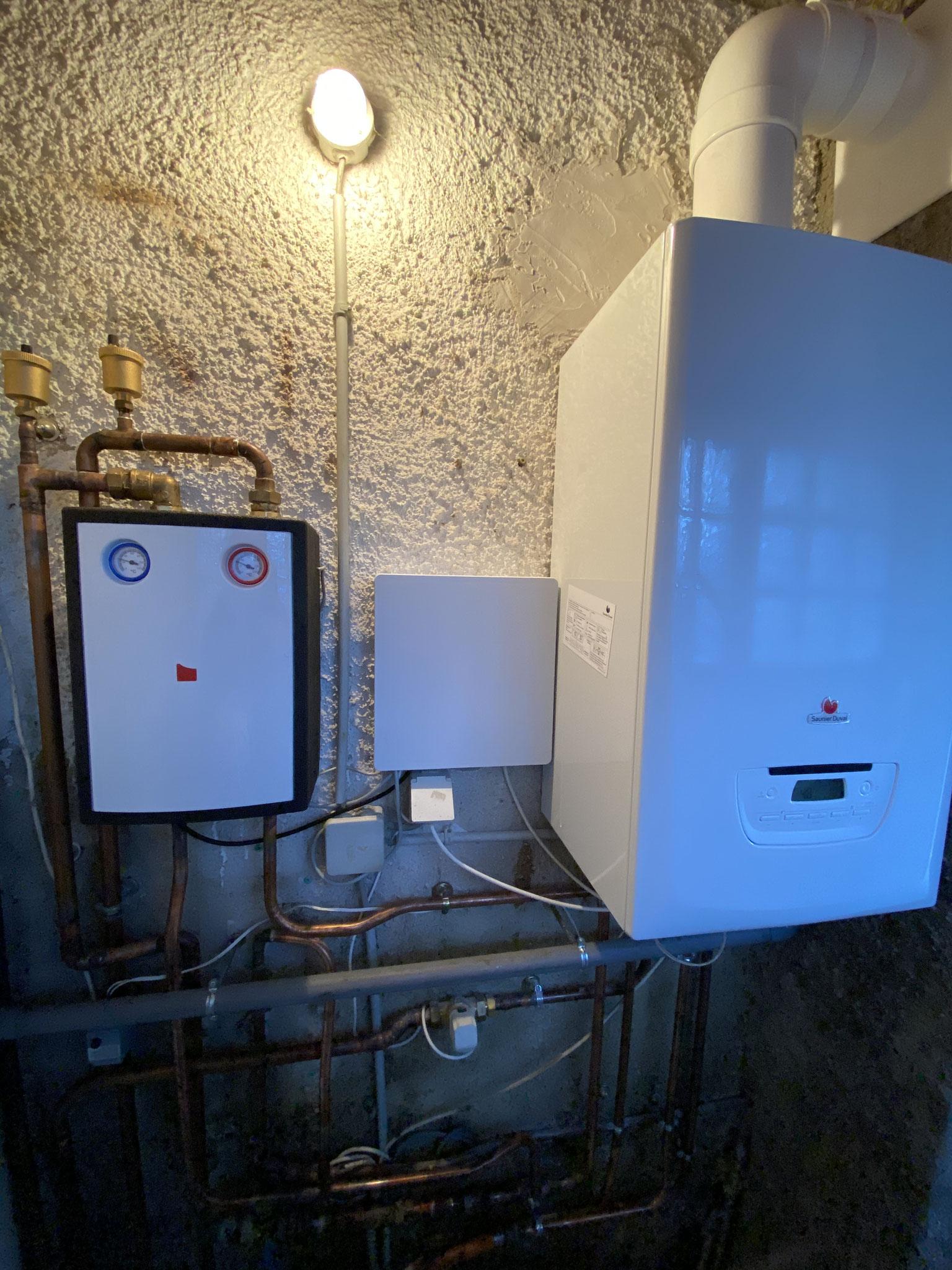 Installation d'une chaudière à condensation Grepiac