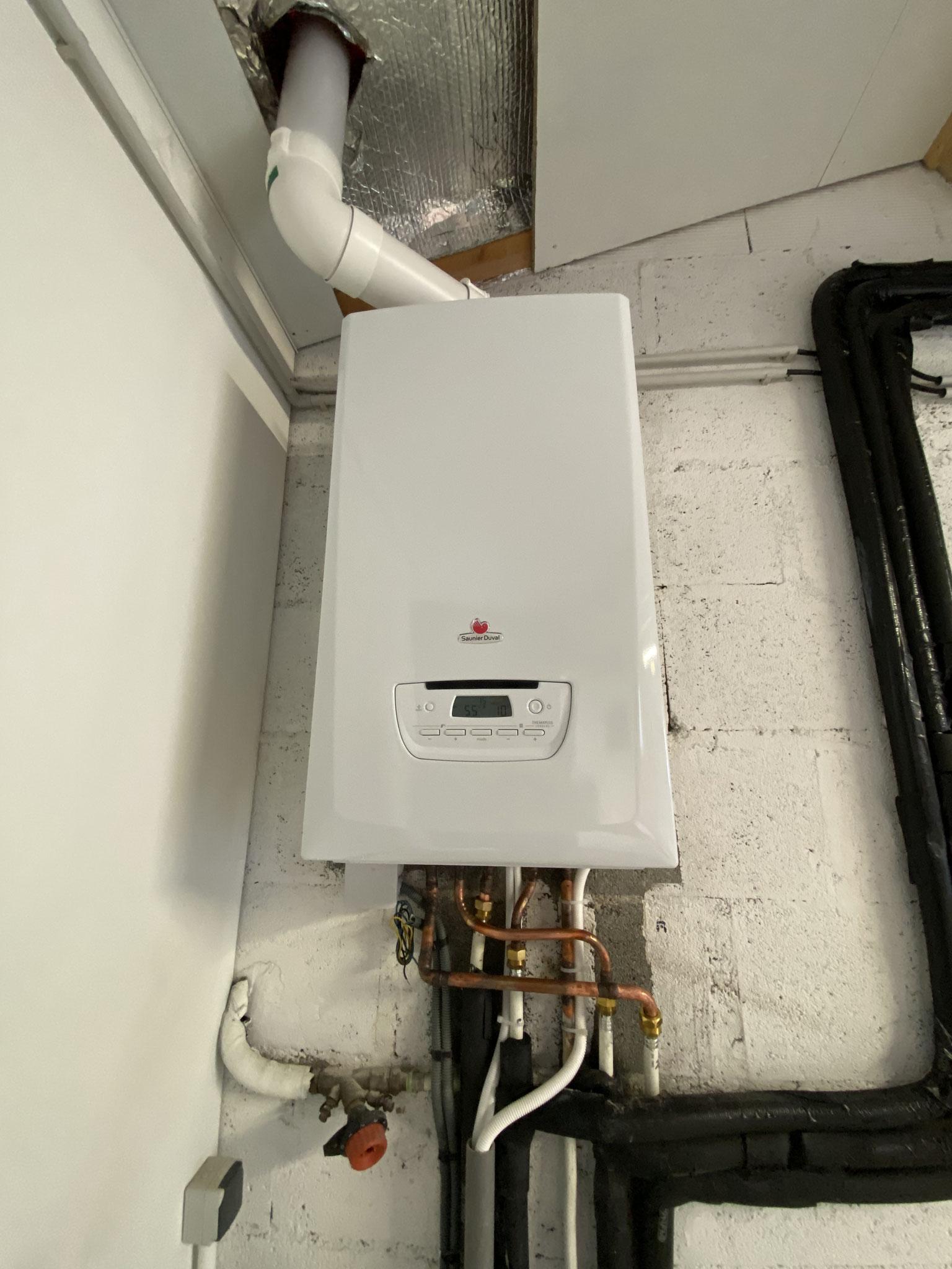 Installation d'une chaudière à condensation Cugnaux