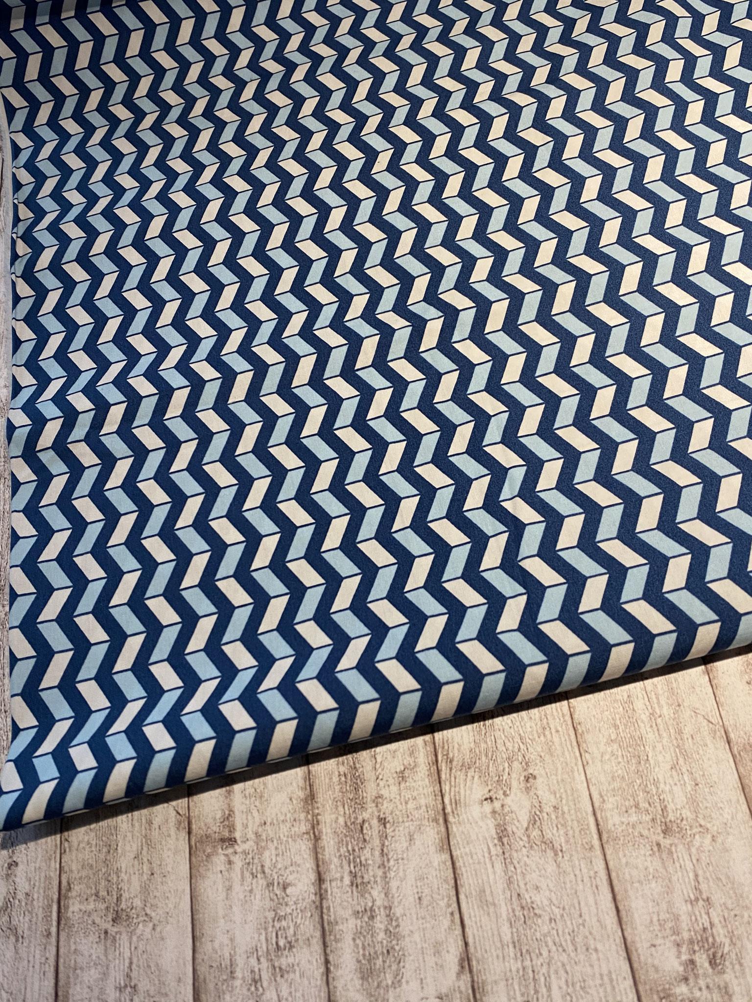 geometrisch blau / hellblau