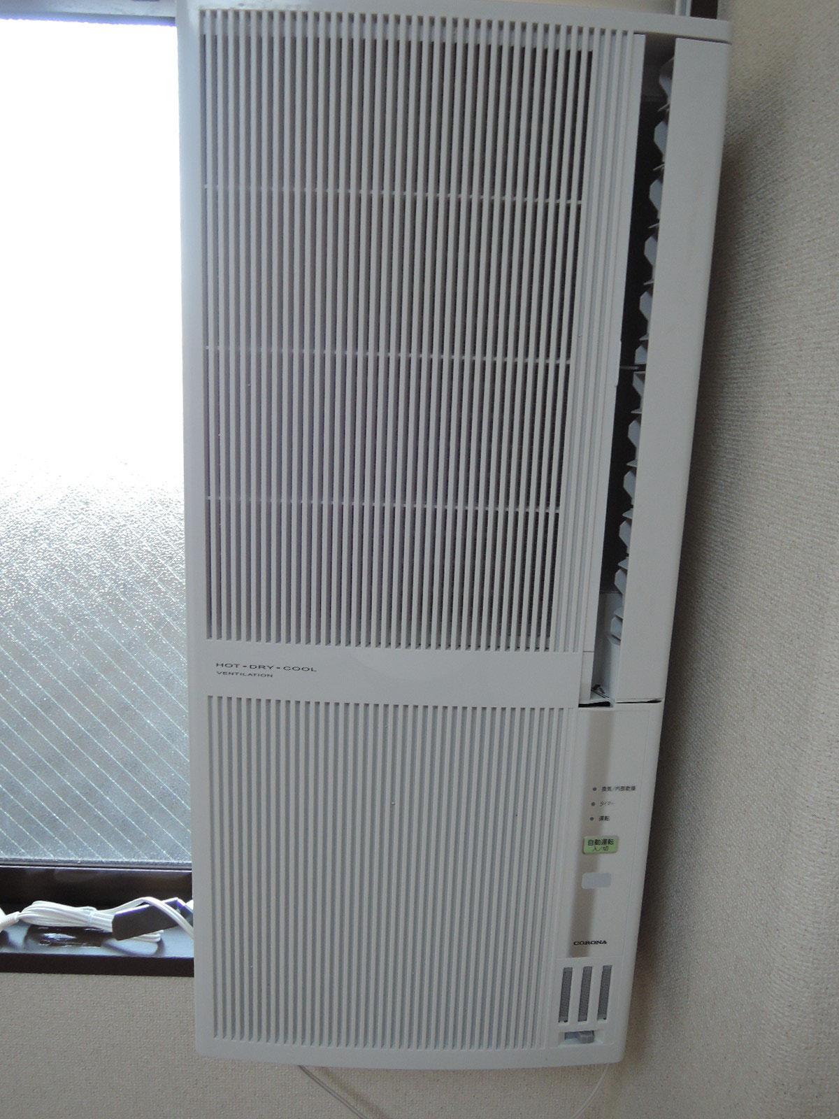 窓用エアコン新規交換