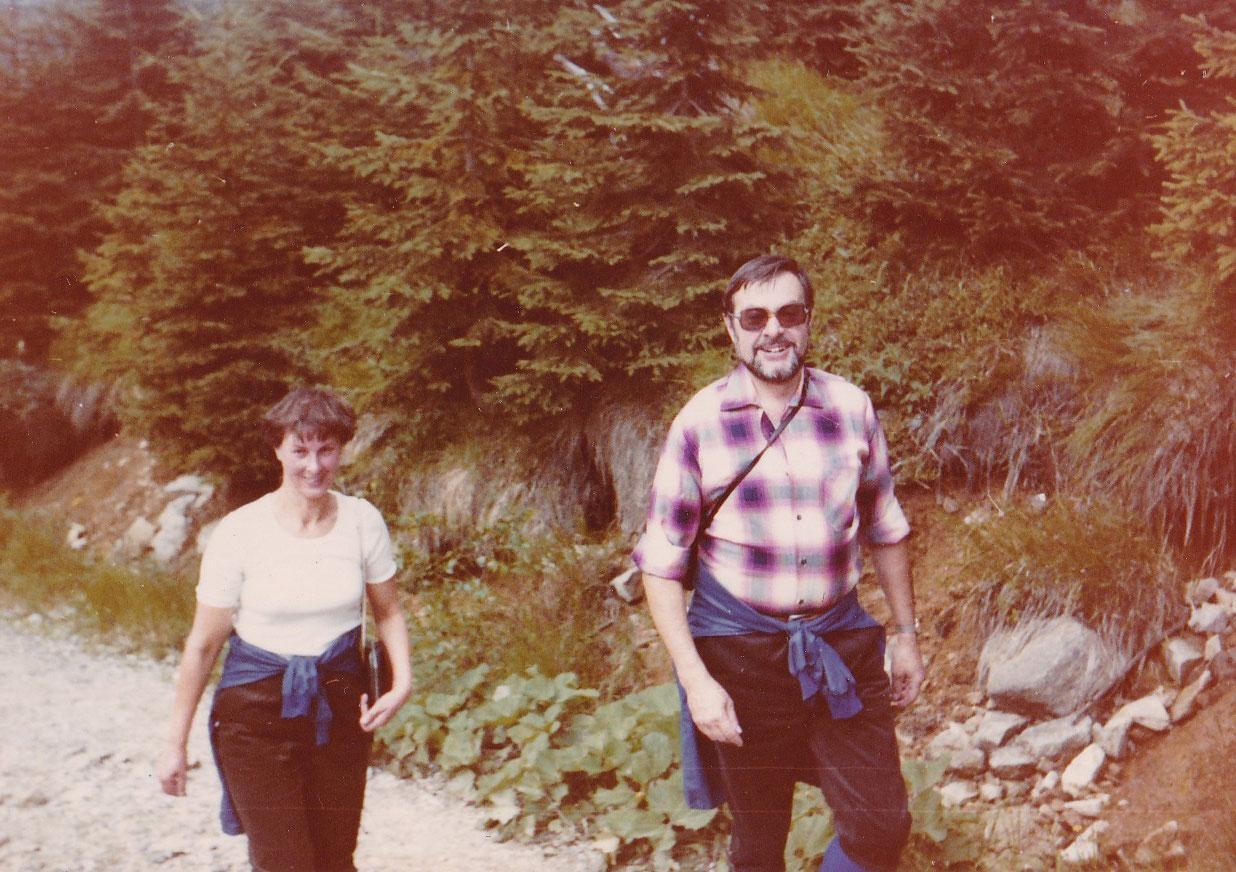 mit Ehefrau Annerose in Harrachov, 1982
