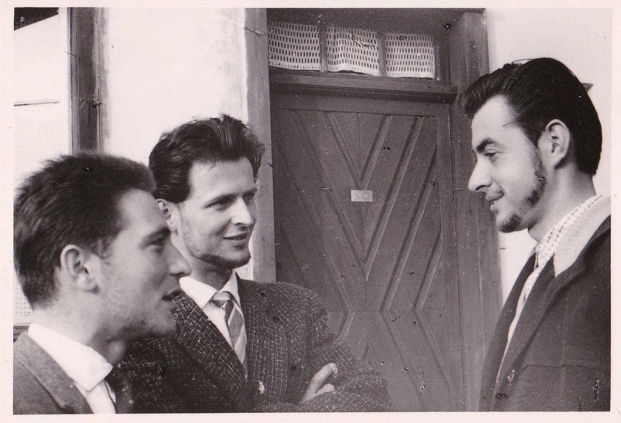 Ernteeinsatz 1962, Student, links Walter Flegel und Ernst Kreitlow