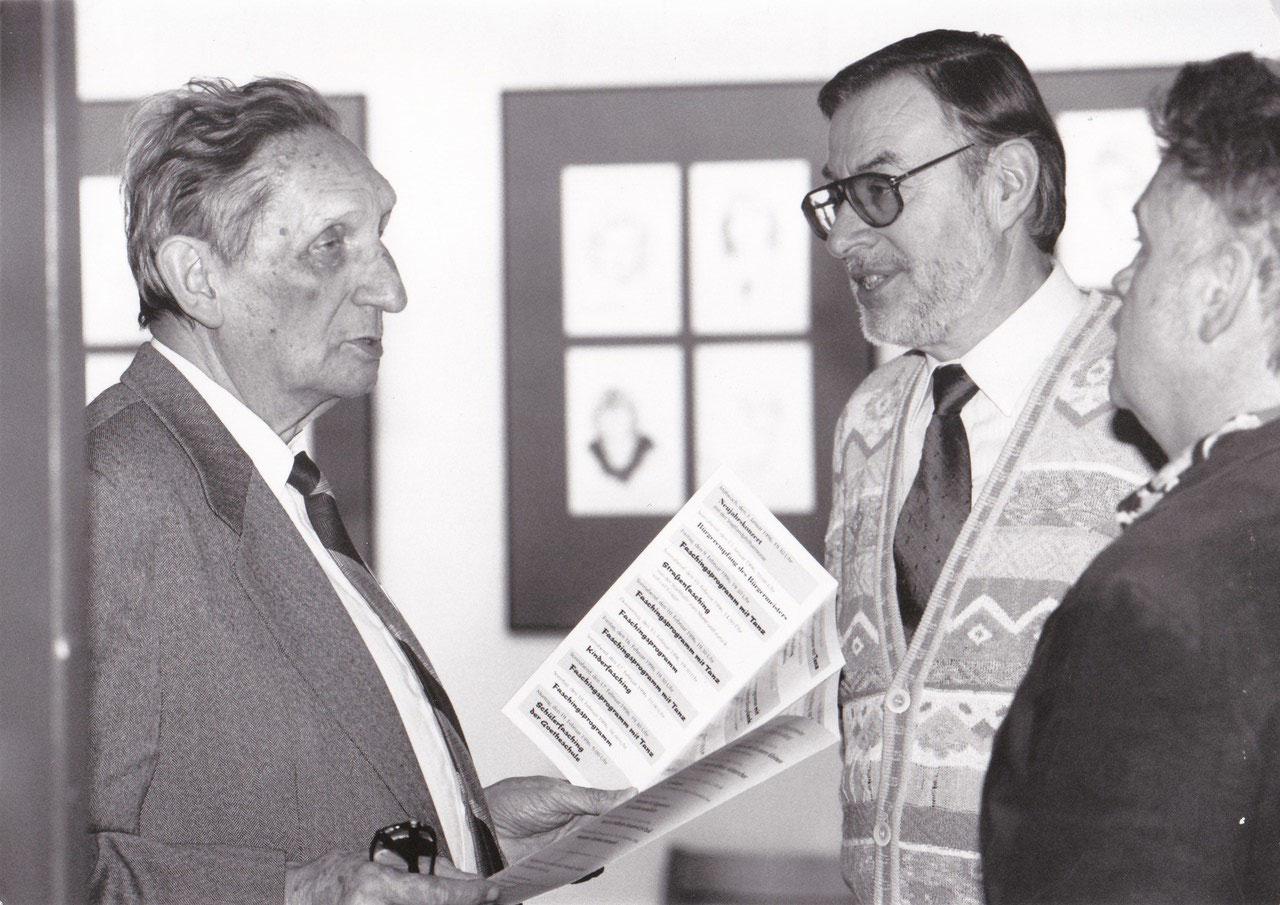 mit Hansgeorg Stengel (links) in der Stadthalle Meerane