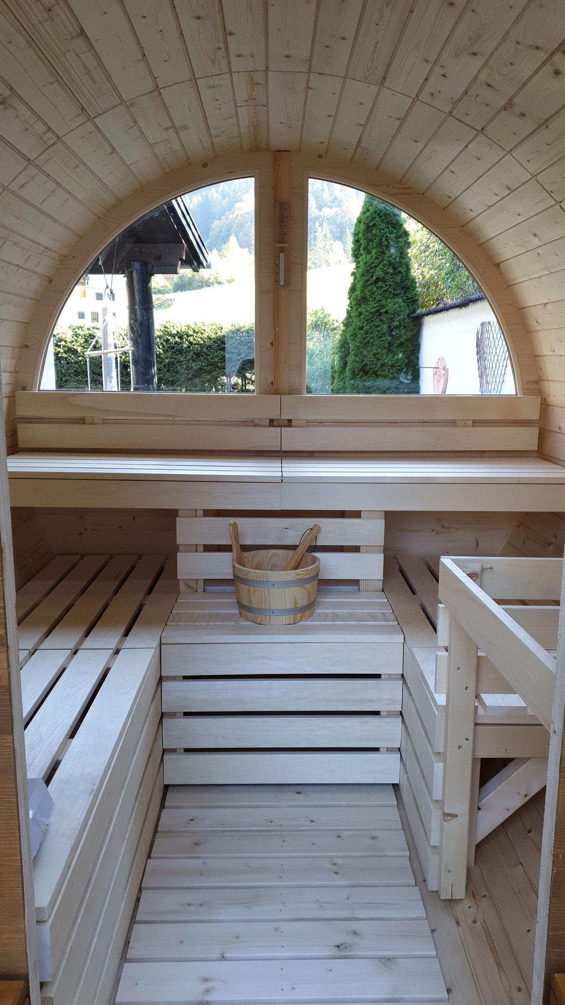 Innenraum Sauna