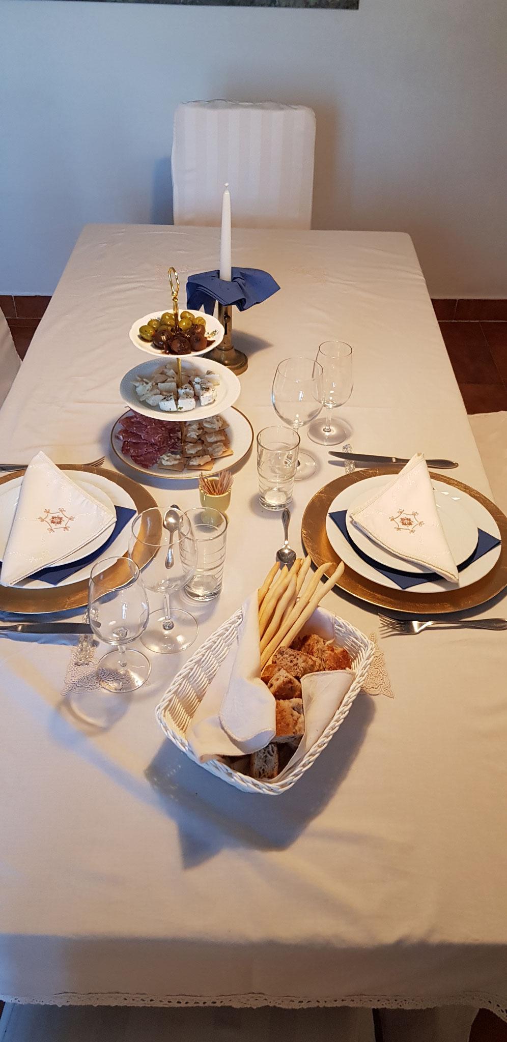 Die Tafel für unsere Gäste ist bereit