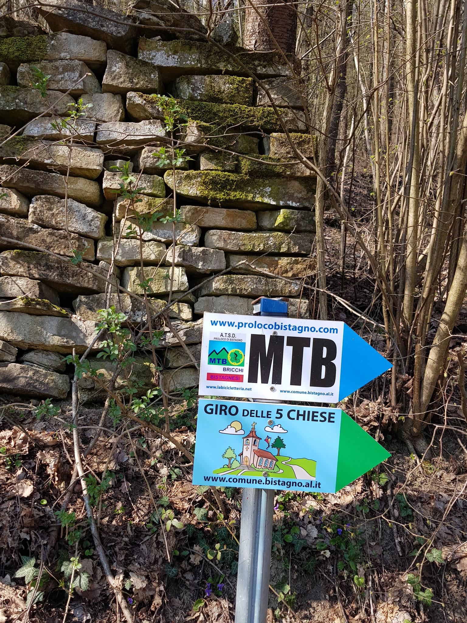 Bistagno ist ein Eldorado für MTB-Fahrer wie auch für Wanderer