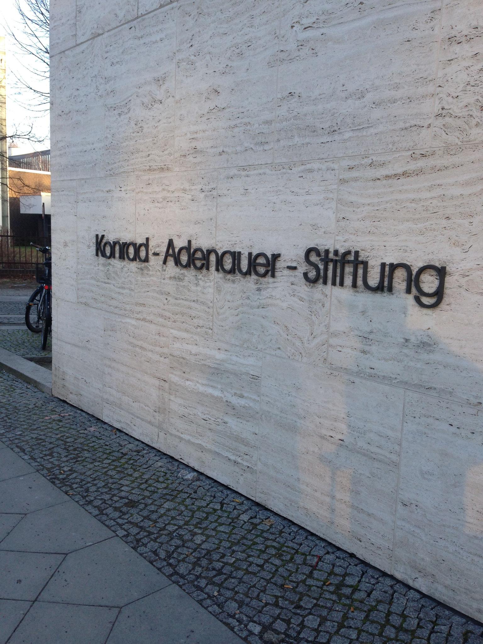 Besuch bei der Konrad-Adenauer-Stiftung.