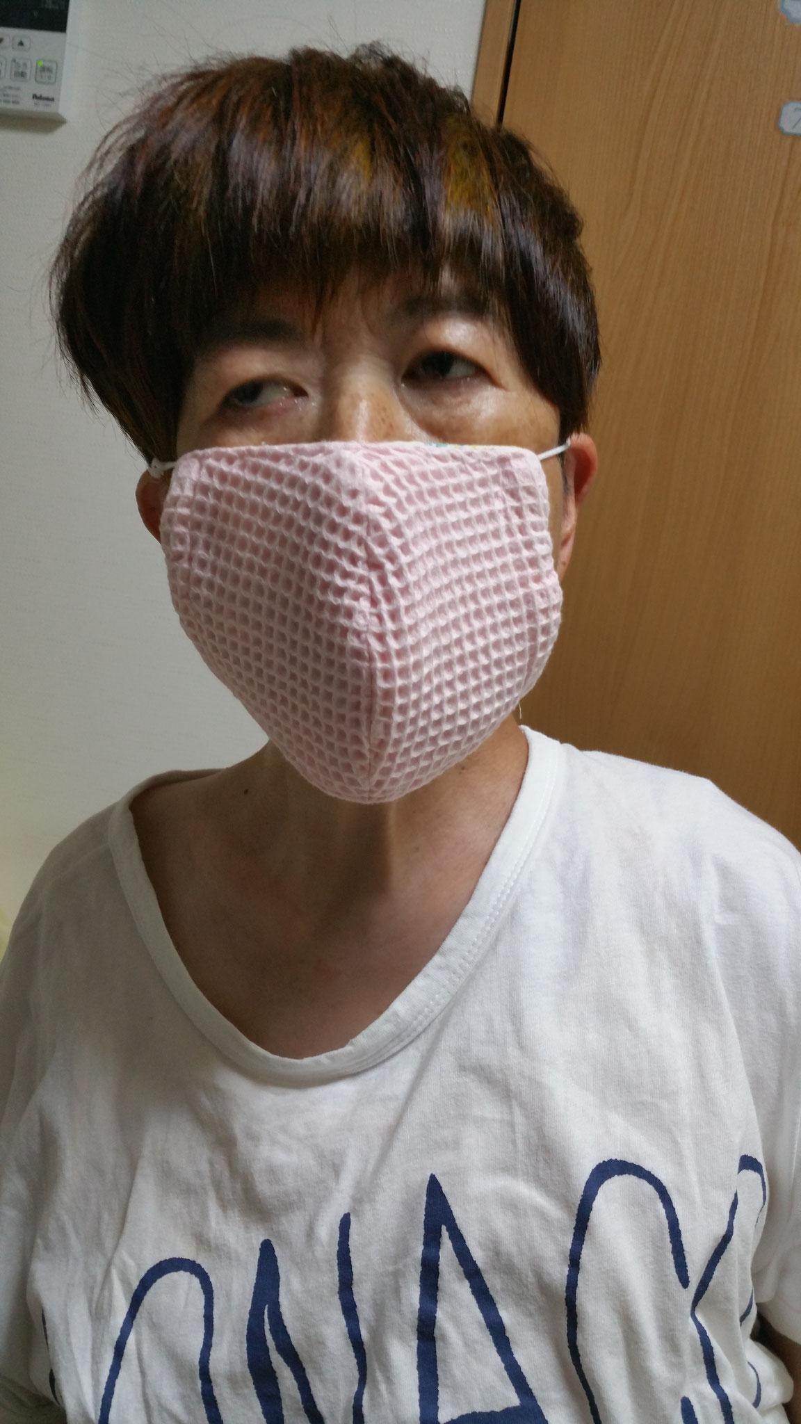 ヘルパーさんのお手製マスク