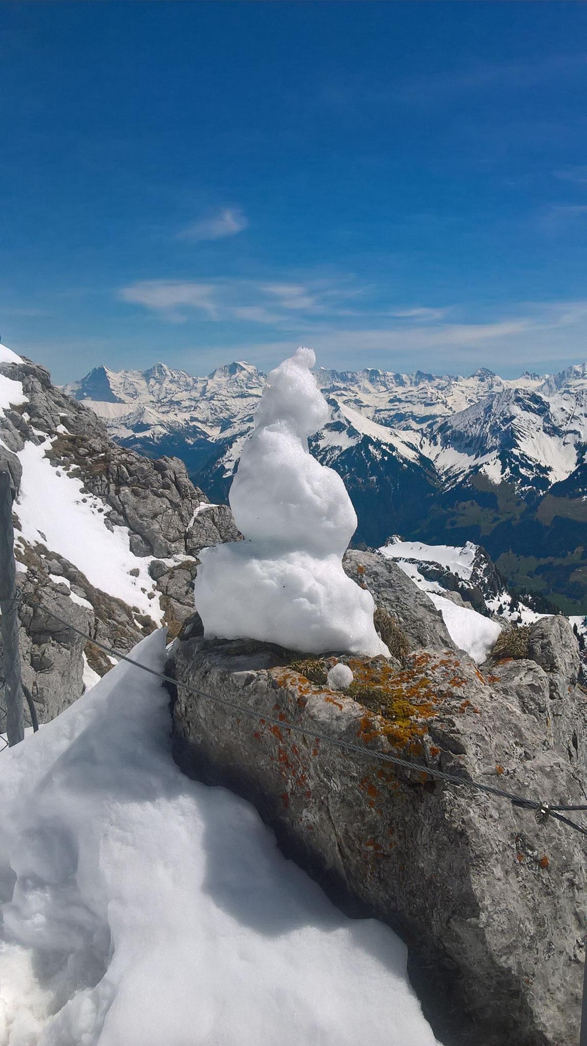 ...ein Schneemann Anfang Mai....