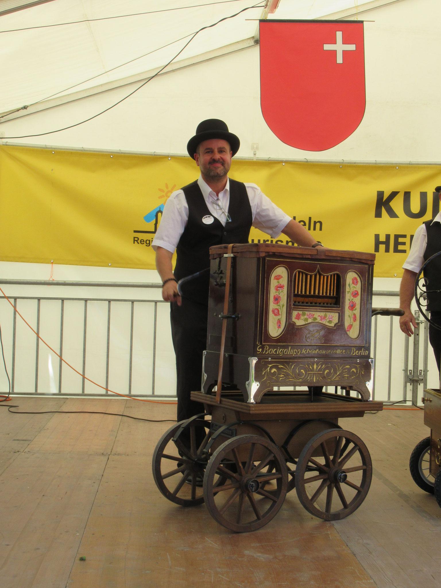 Für das Festival extra aus Köln angereist.