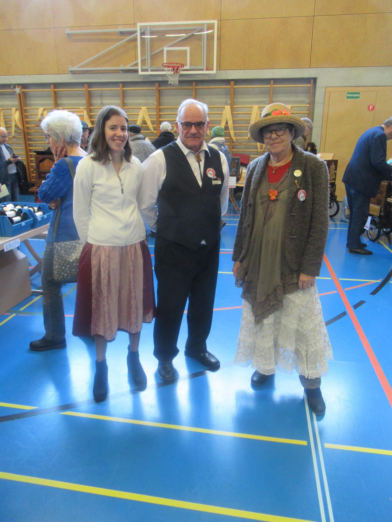 Miriam Schumacher aus Lyssach, Ernst Suter aus Kölliken und Evi Widmer aus Obergerlafingen