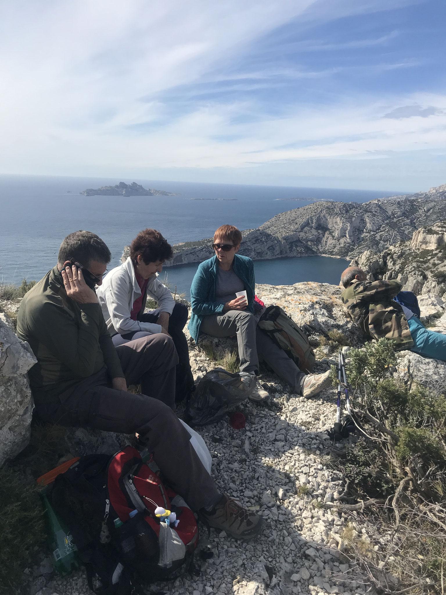 Picnic sur les falaises du Devenson