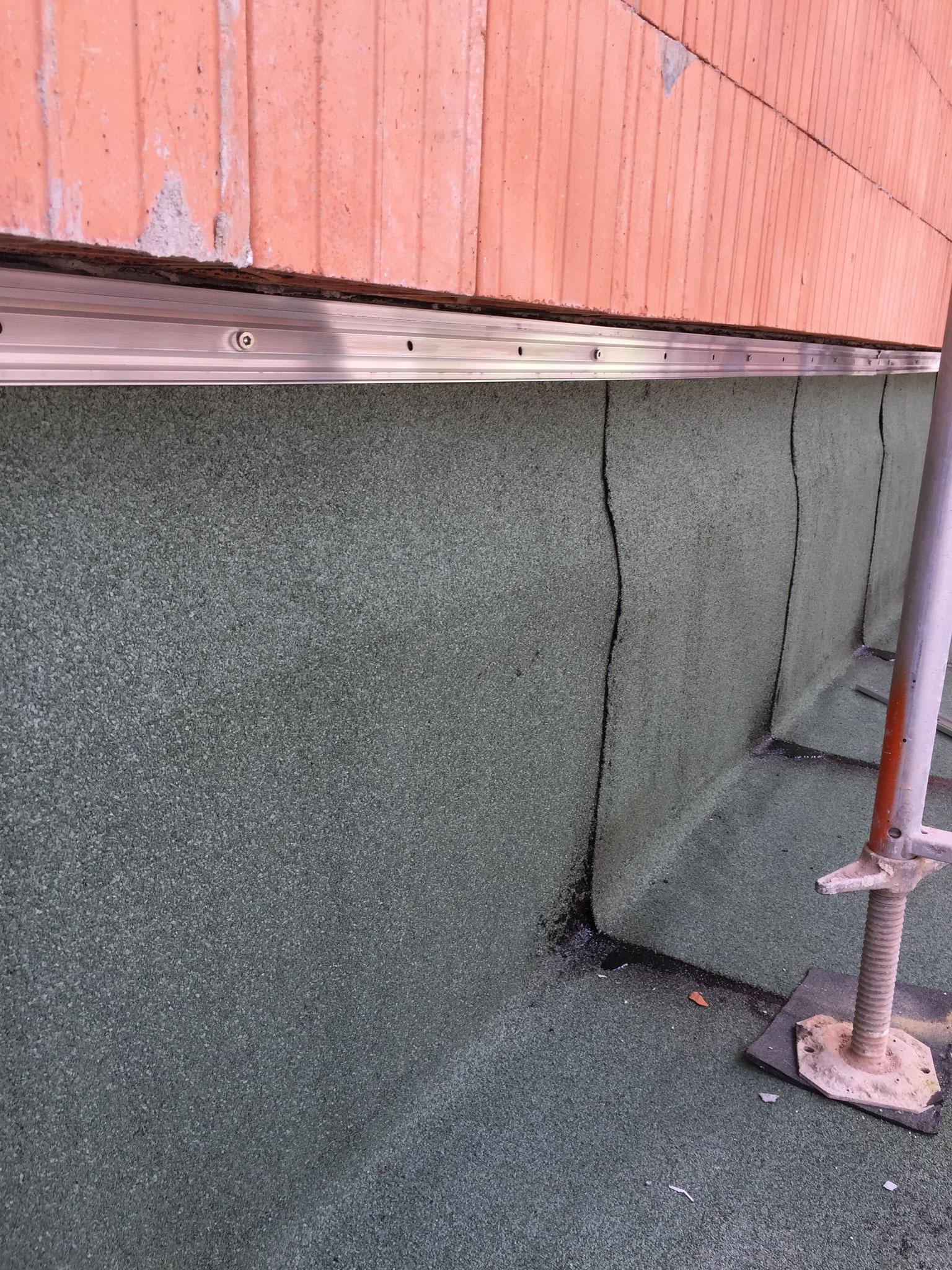Bauwerksabdichtung mittels Bitumenschweißbahn (2-Lagig)