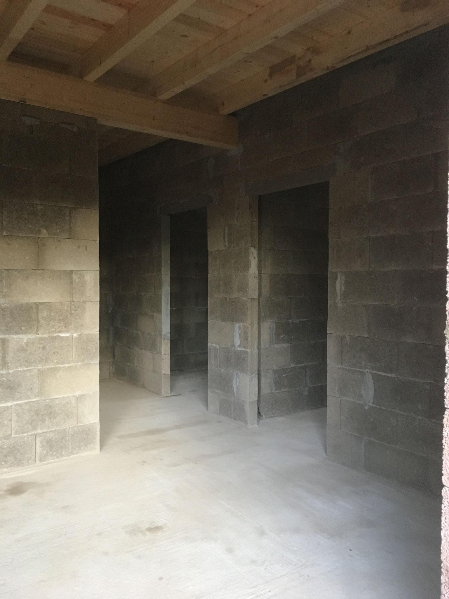 Innenwände aus Bimssteinen