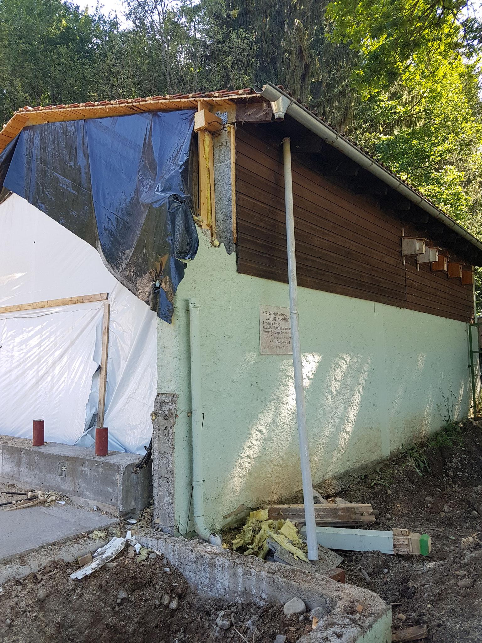 Abbruch altes Schützenheim