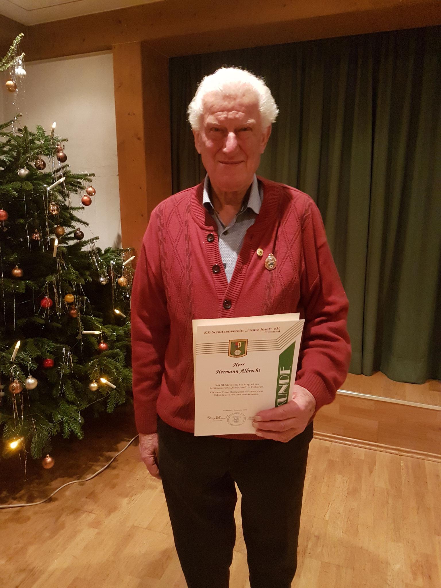 Hermann Albrecht 60 Jahre Mitgliedschaft