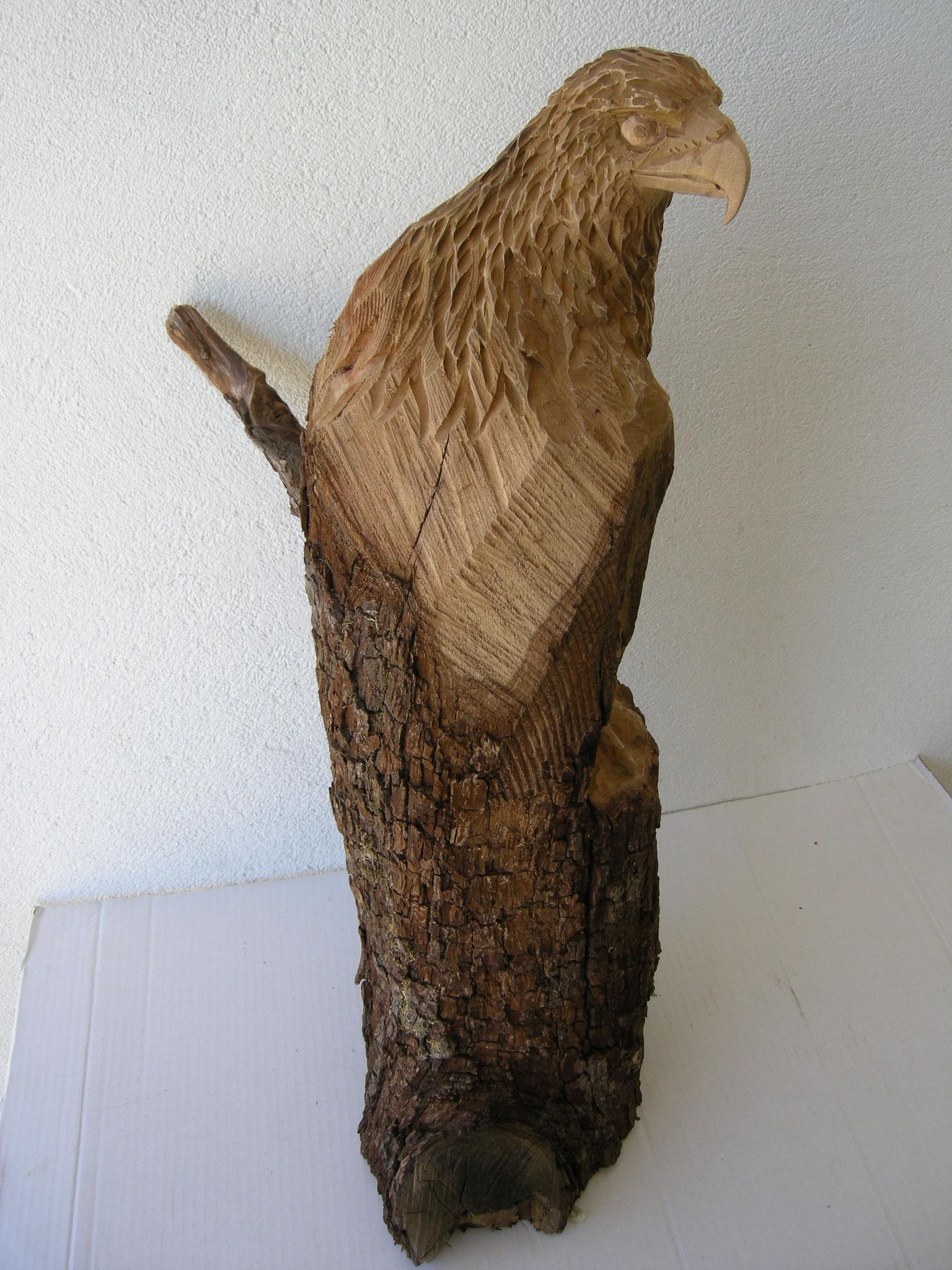Steinadler Schnitzerei