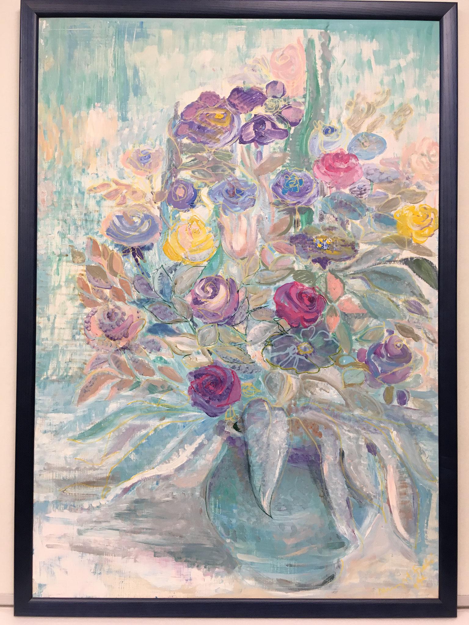 """Szabo """"Rosen in Vase"""" Größe 70,0 x 100,0cm ohne Rahmen €299,-"""