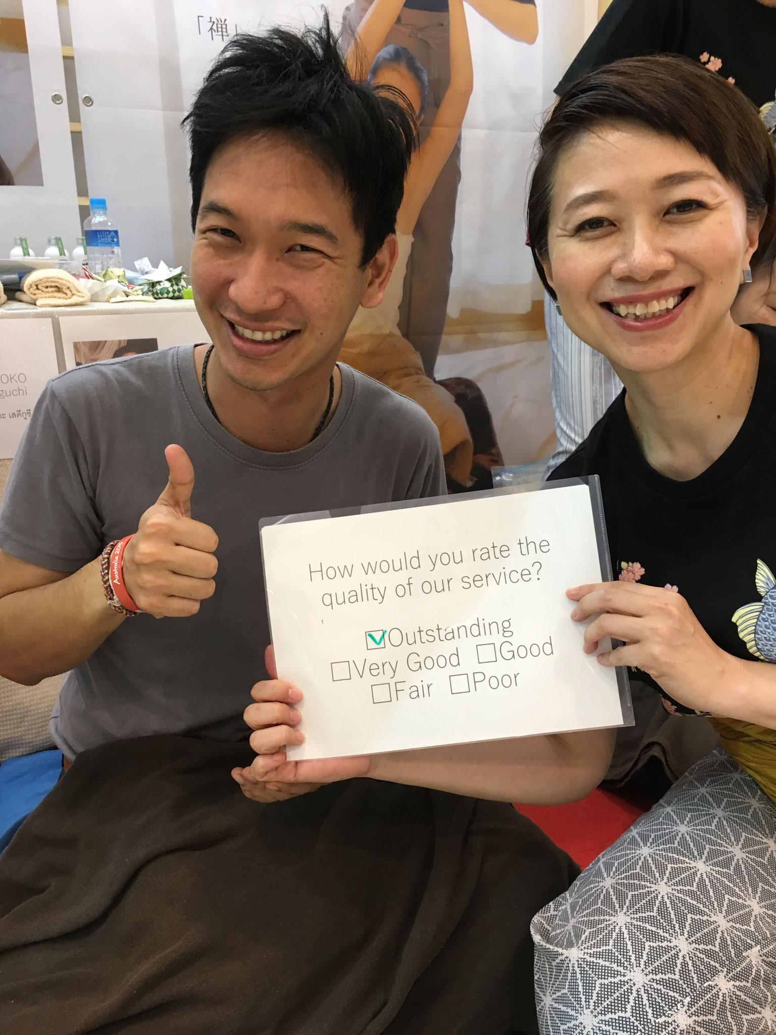 皆さんとても良い笑顔で嬉しかったです(2018年1月タイ)