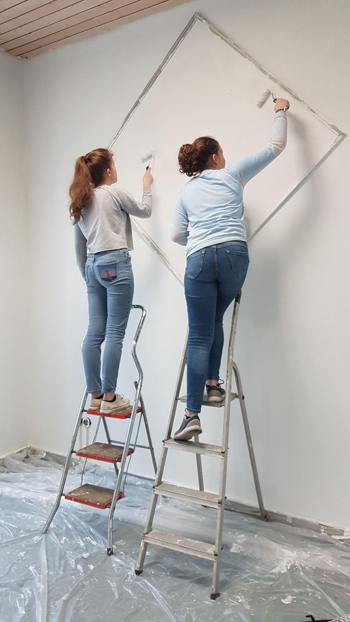 ...gaben sich viel Mühe beim Gestalten der Wände