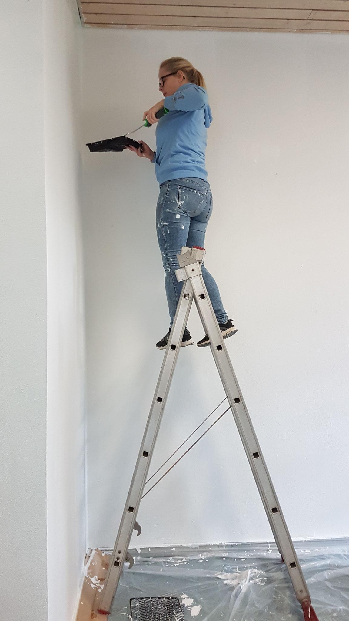 Dann ging es los - sowohl die Leiter,...