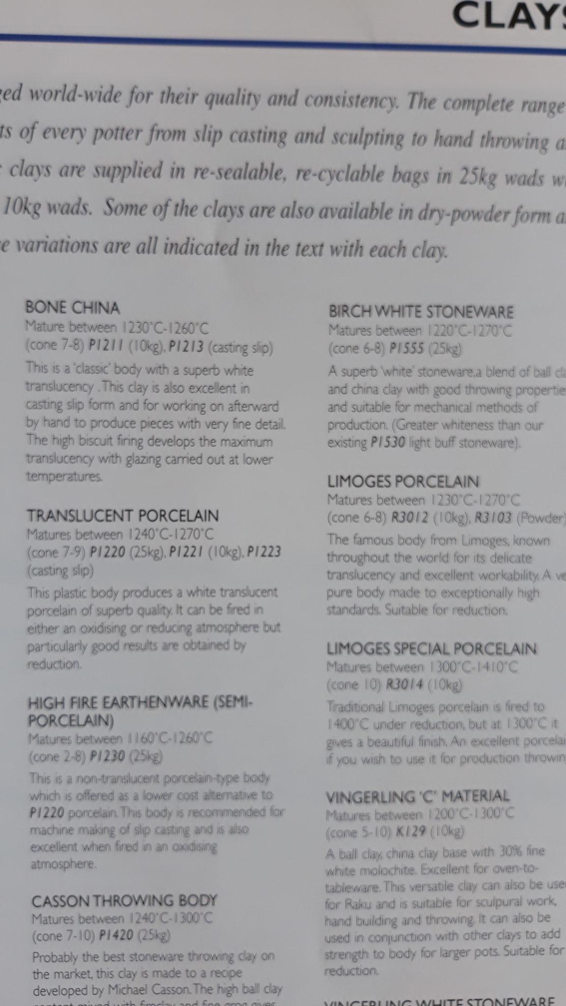 Catalogue Potterycrafts Materials & Equipment