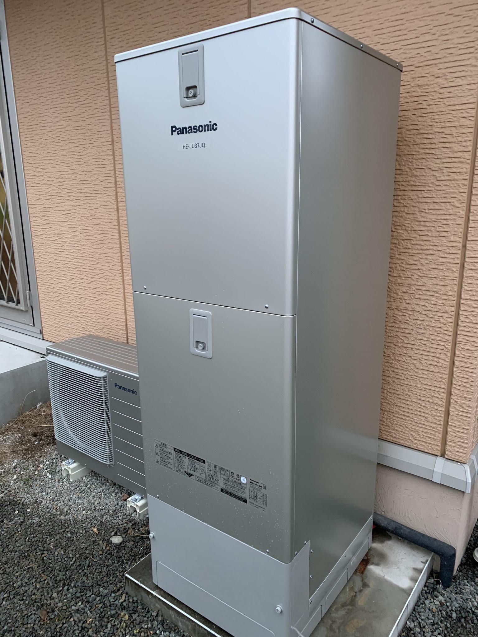 パナソニック パワフル高圧 エコキュート 富士宮市にて取付工事