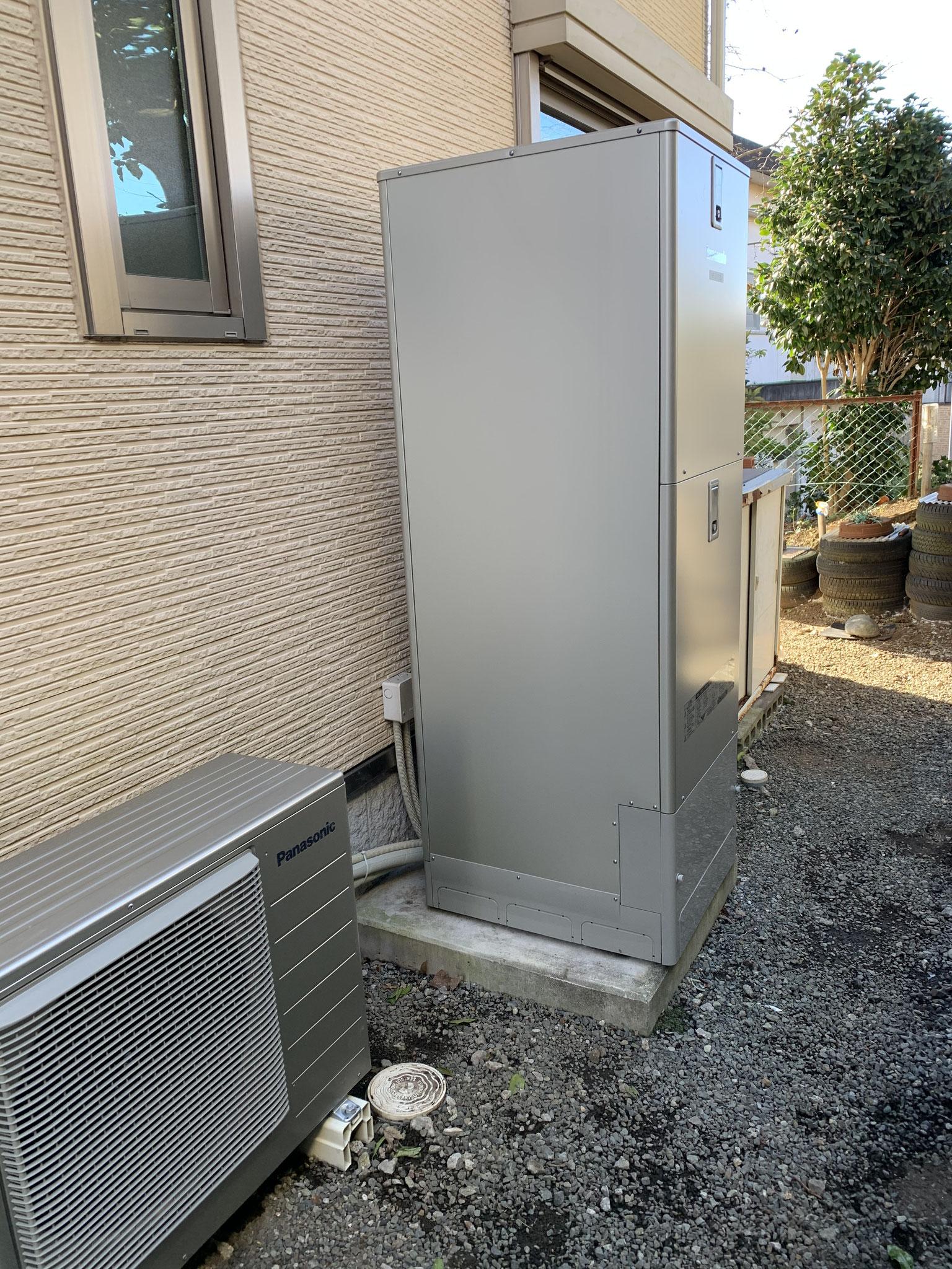 沼津市 エコキュート 設置工事 パナソニック パワフル高圧