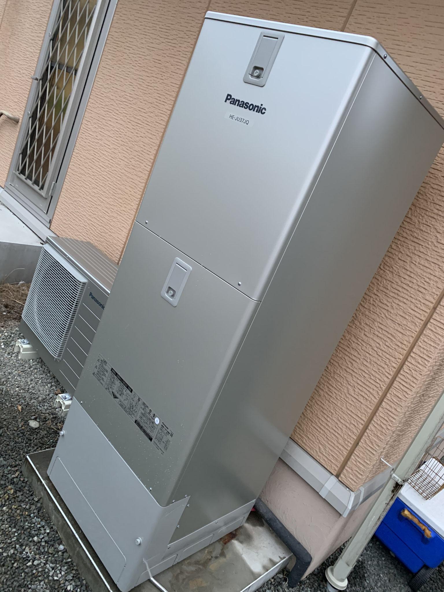 富士市 パナソニックエコキュート パワフル高圧タイプ 設置工事