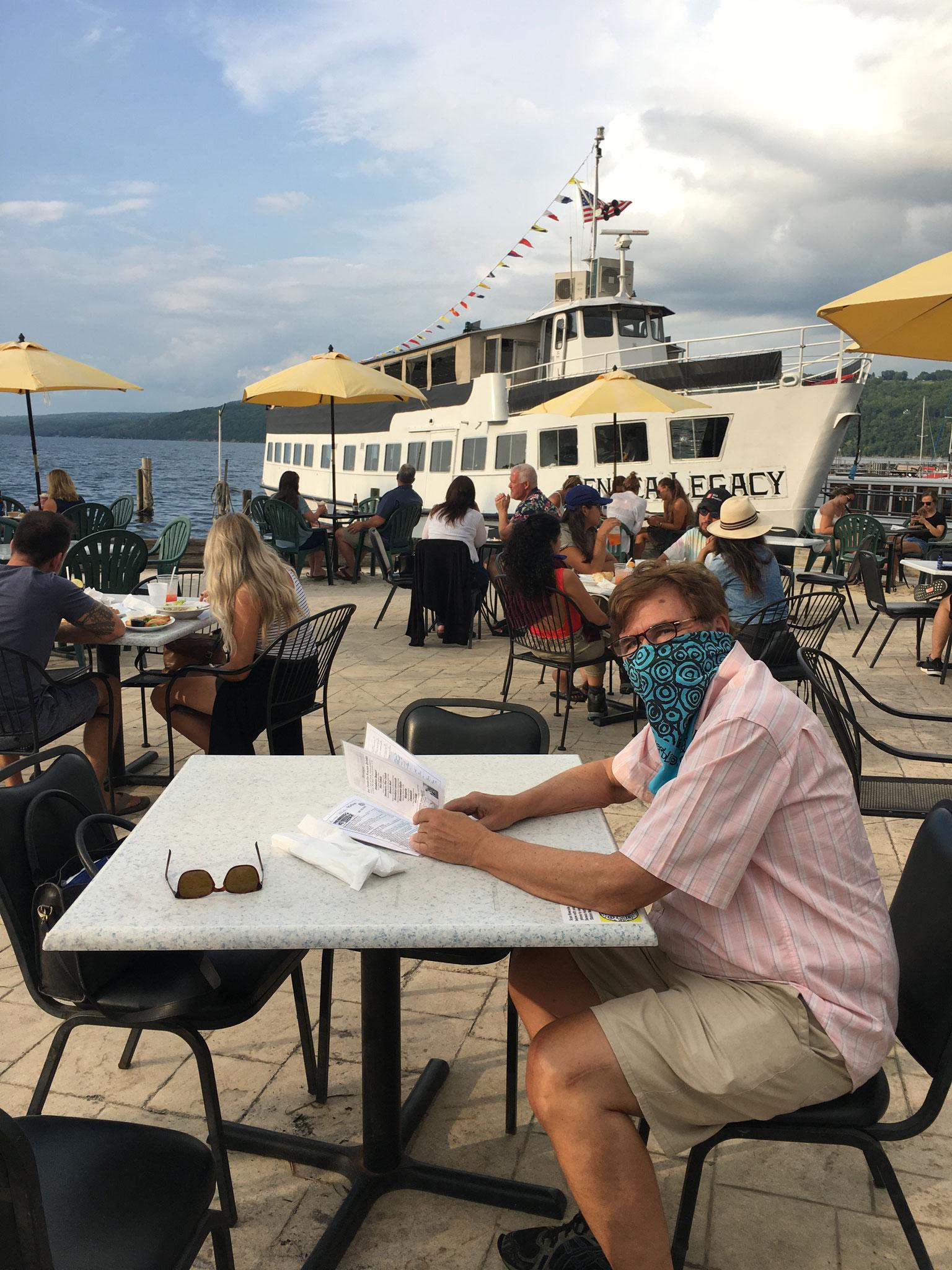 Eating at Seneca Lake, 8-2020