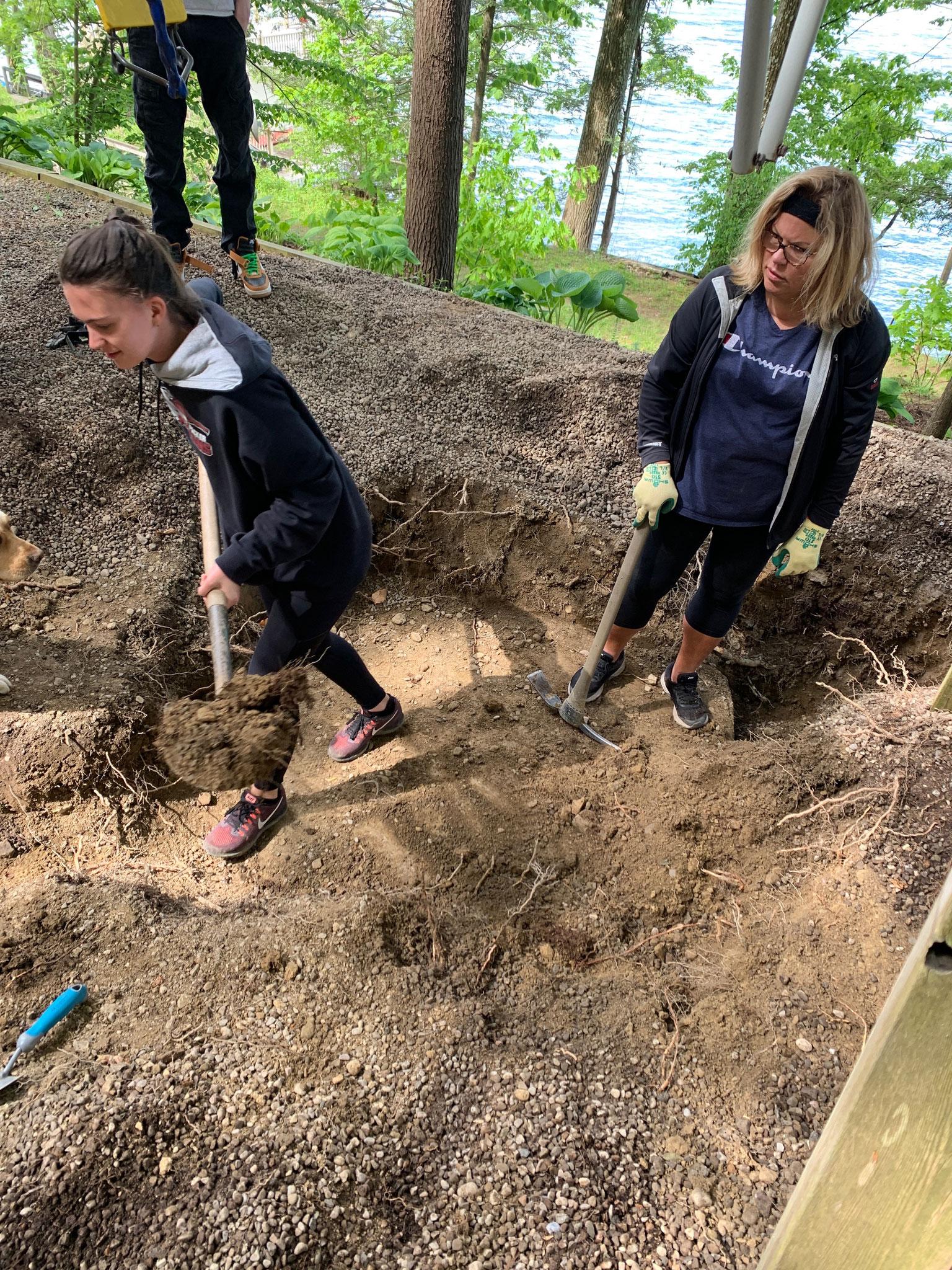 Digging, Ellie and Celeste