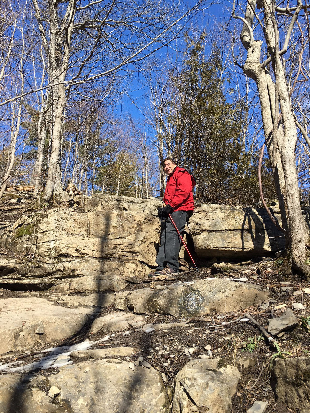 John hiking at Clark Reservation  Feb. 22, 2016
