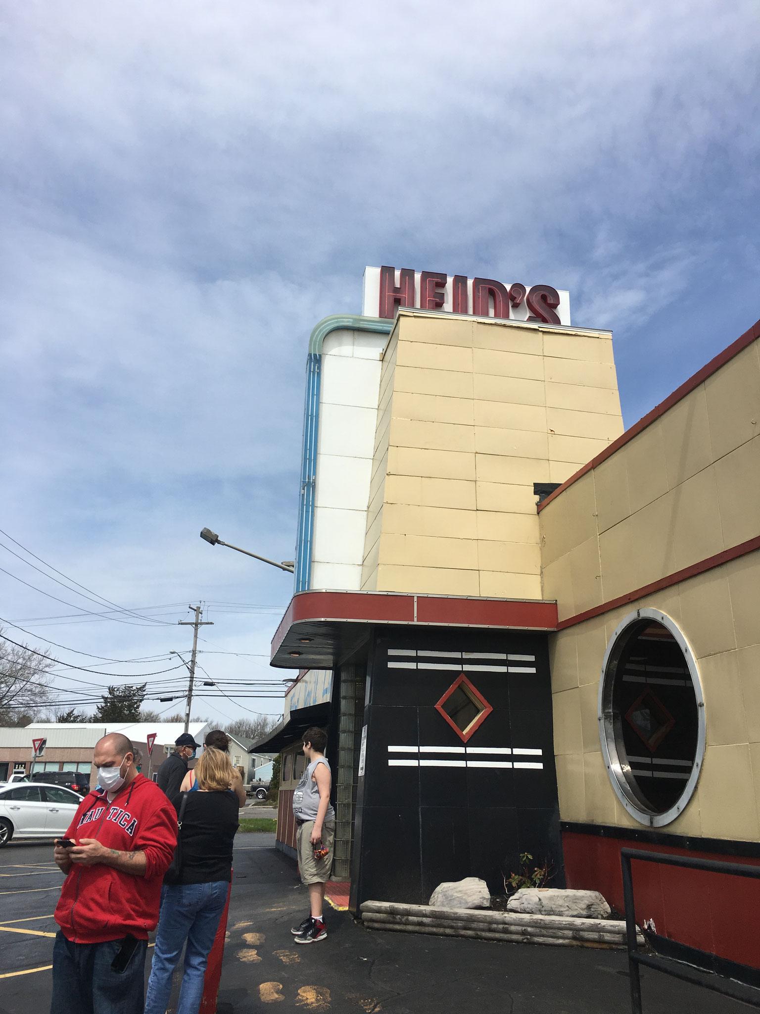 Heid's, a famous Syracuse lankmark eatery, May, 2020