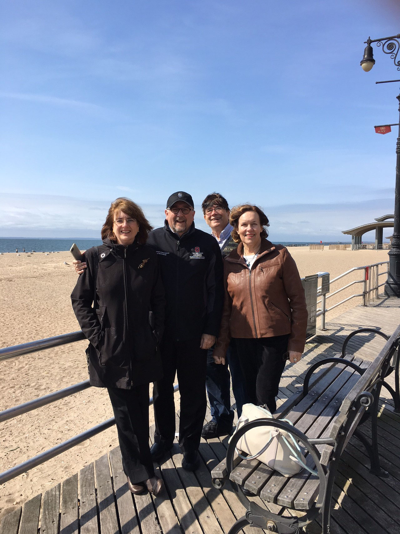 Sandra, Steve, John & Lorraine, Brighton Beach, Brooklyn Easter Sunday, 2016