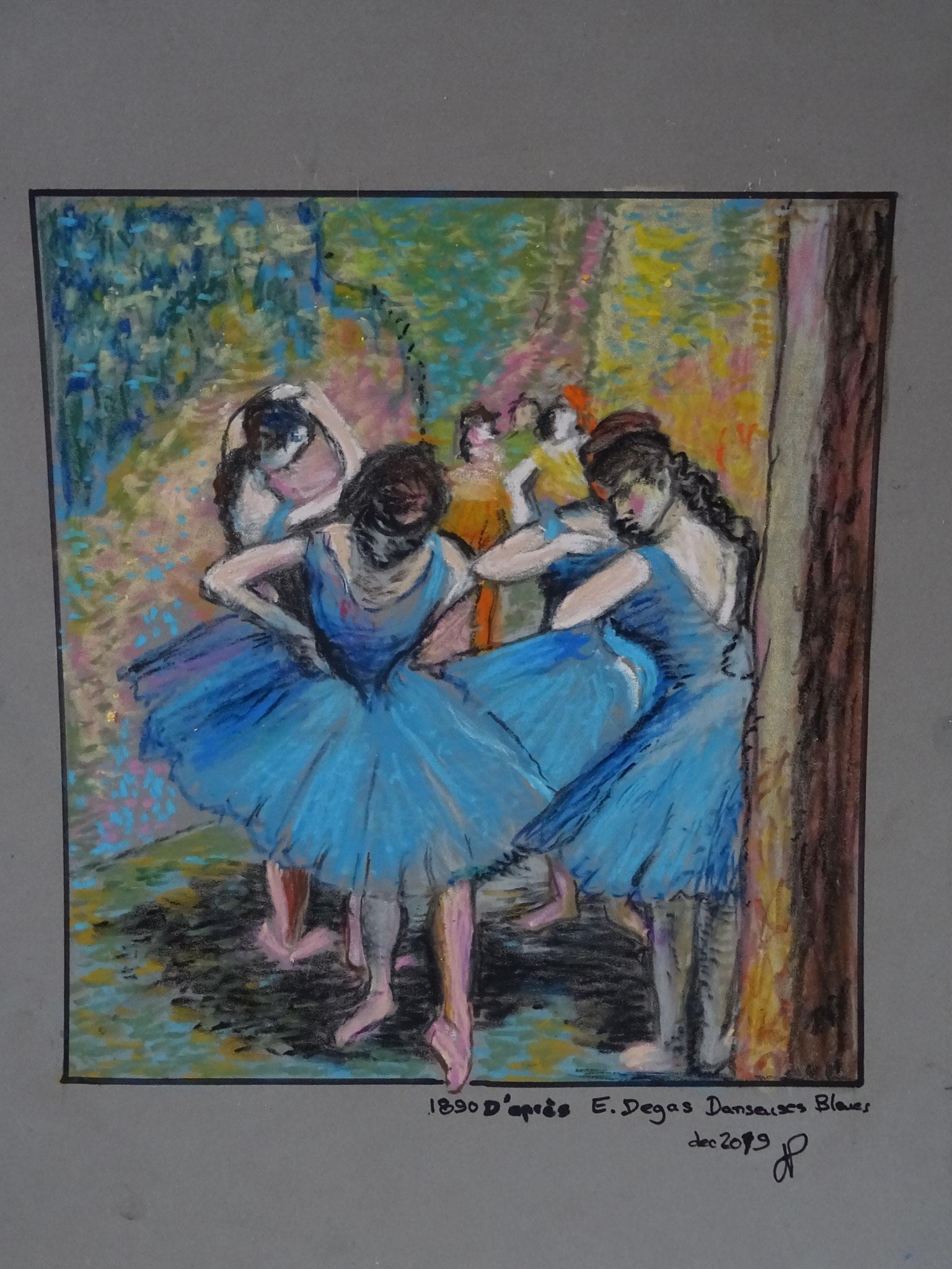 Degas les danseuses bleues pastel gras dec 2019