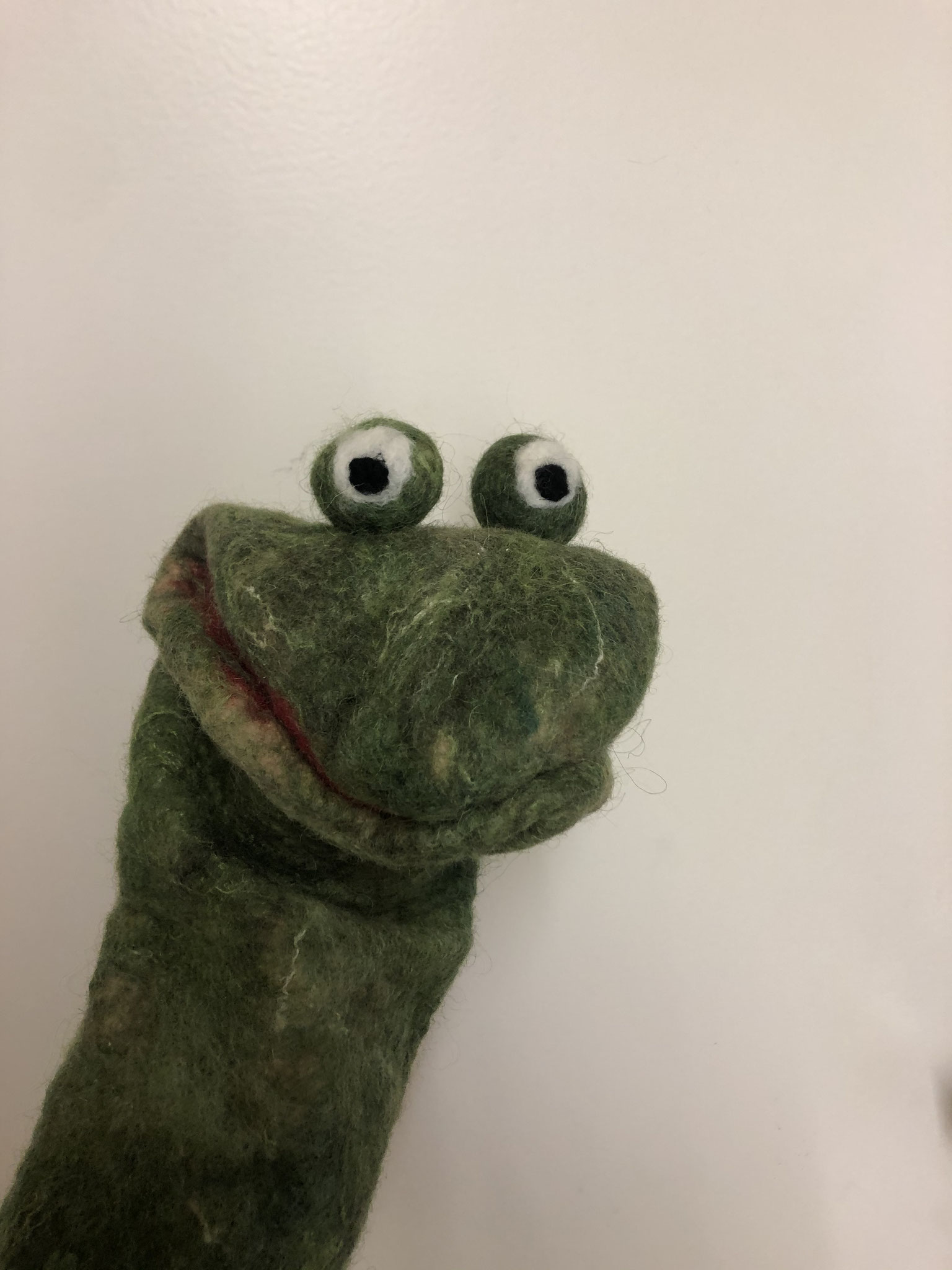 Handpuppe Frosch 2