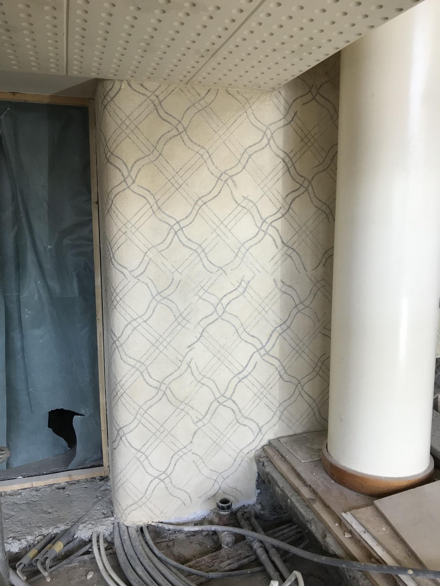 Detail Sgraffito fertig restauriert